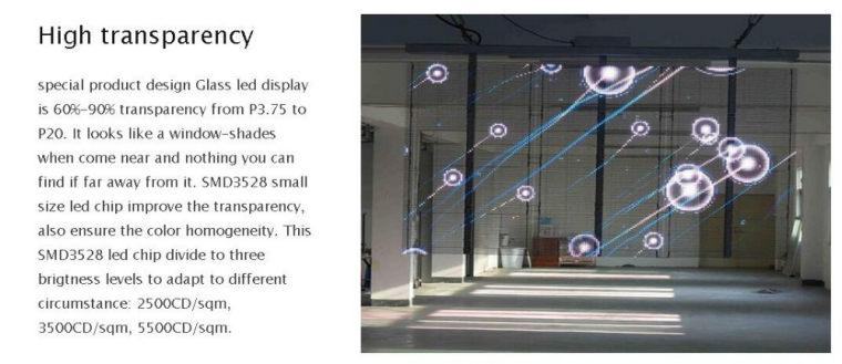 Hanging Glass Screen
