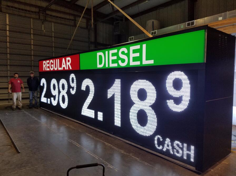 Outdoor White Color led gas price sign in USA