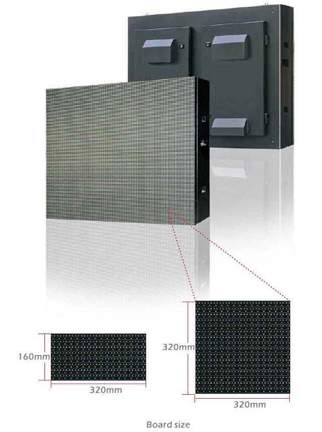 P10mm Outdoor 1R1G1B LED Display Advertising board waterproof IP68 brightness 8500nits