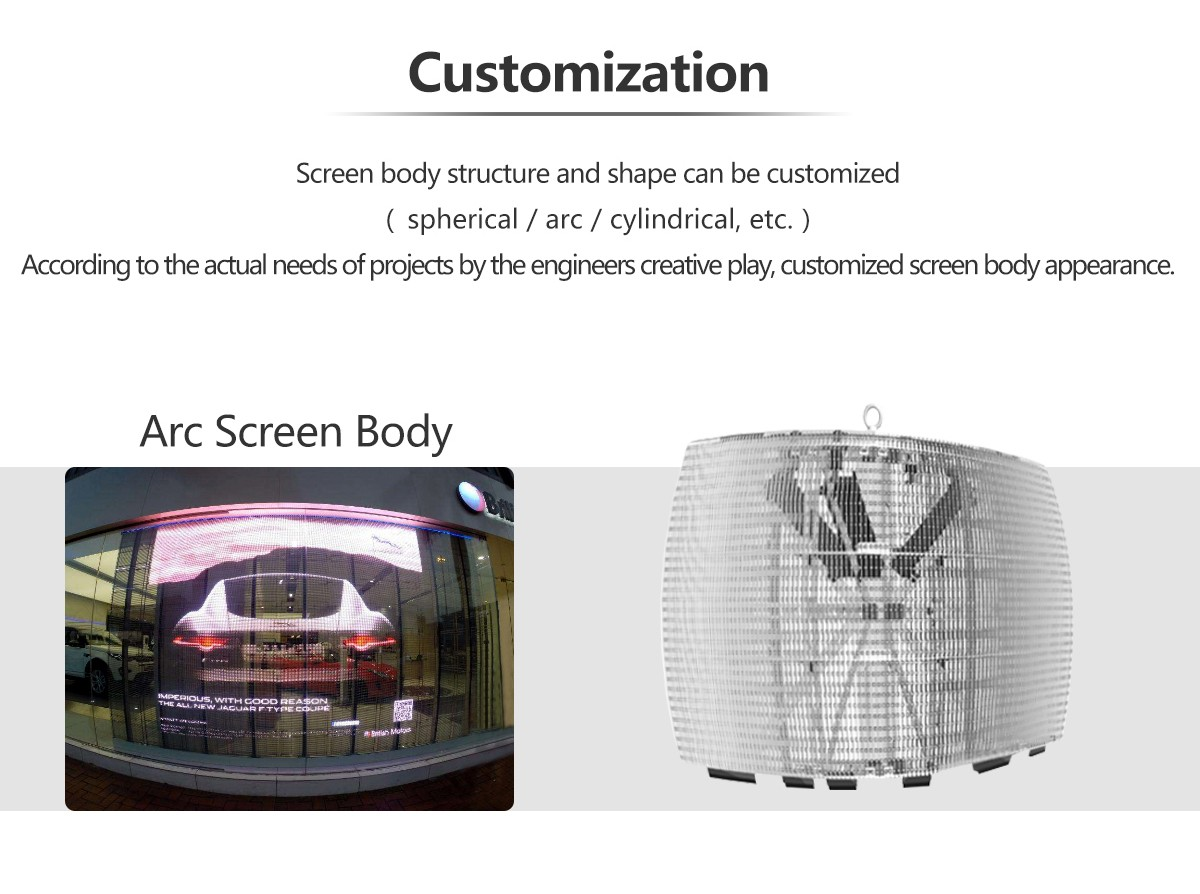 P3.91 Rental Transparent Glass LED Screen