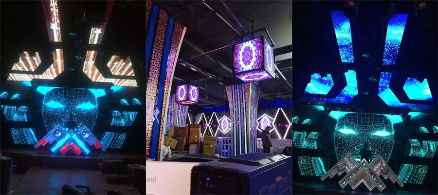 Creative DIY LED displays in Bangkok Thailand