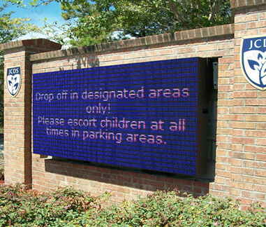 Wireless LED School Sign