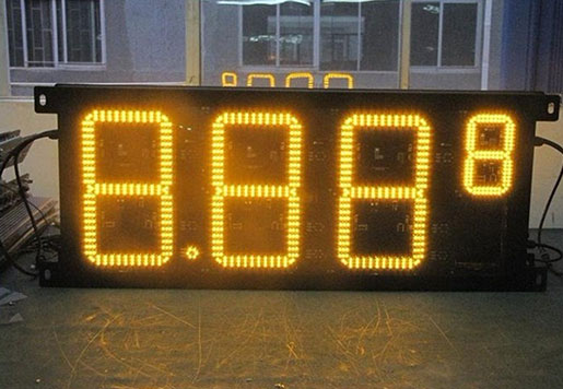 8.888 Outdoor LED Gas Station Price Sign 10 Inch