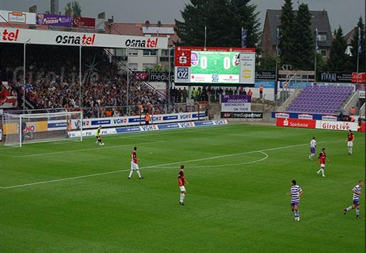 Outdoor Stadium Perimeter LED Display Sign P10mm 1R1G1B