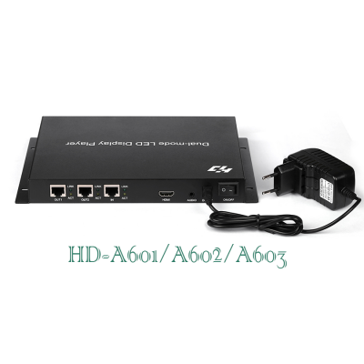 huidu led display controller card HD-A60X Syn-Asyn dual-mode HD player box HD-C10 HD-C30 Asyn LED Controller system
